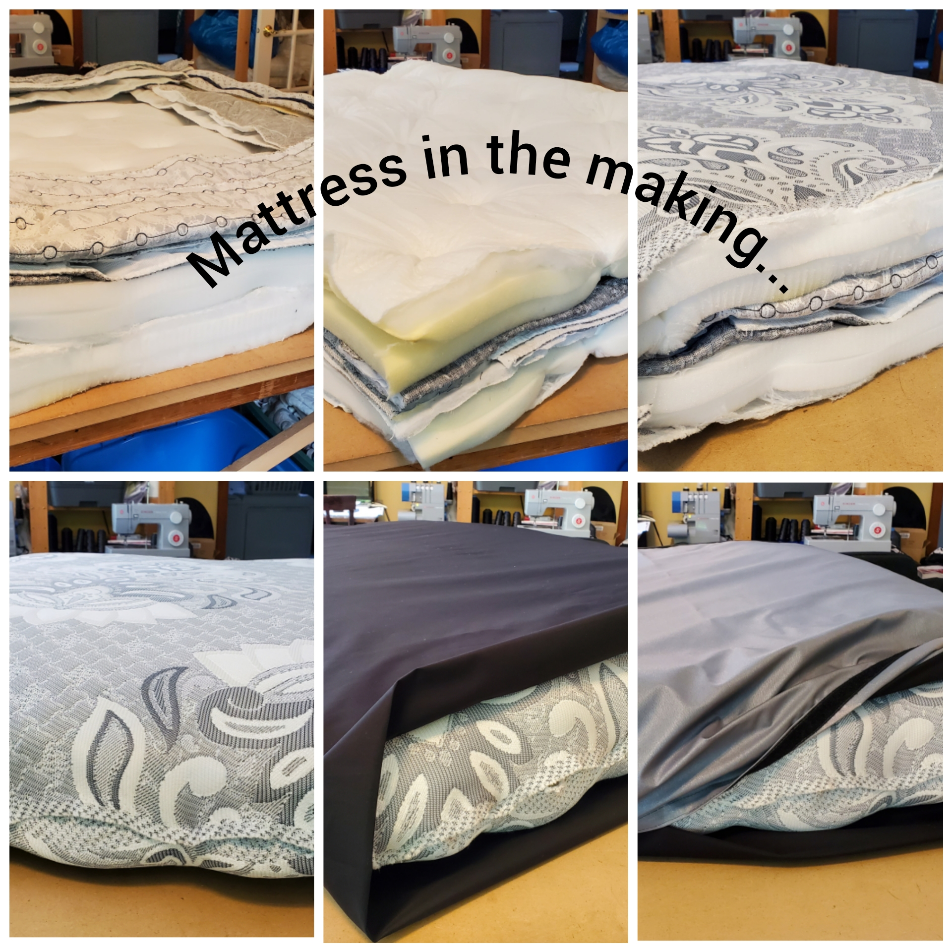 mattress in the making